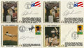 Autographs:Letters, Rickey Henderson Signed First Day Covers Lot of 4. The greatestbase thief and leadoff man in the history of baseball offer...