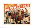 "Movie Posters:Western, The Desert Trail (Monogram, 1935). Half Sheet (22"" X 28""). John Wayne stars as a cowboy wrongly accused of armed robbery in ..."