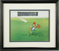 "Baseball Collectibles:Others, ""Fly Ball"" Limited Edition Hand Painted Cel Original Art (WalterLantz Productions, 1992) Signed by Joe DiMaggio. Although ..."