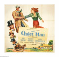 "Movie Posters:Drama, The Quiet Man (Republic, 1950). Six Sheet (81"" X 81""). Of all of the films that John Ford directed, his personal favorite wa..."
