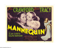 "Movie Posters:Drama, Mannequin (MGM, 1937). Title Lobby Card and Lobby Card (11"" X 14"").In this rags-to-riches drama Joan Crawford marries a chi... (2items)"