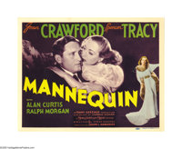 "Mannequin (MGM, 1937). Title Lobby Card and Lobby Card (11"" X 14""). In this rags-to-riches drama Joan Crawford..."