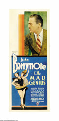"Movie Posters:Drama, The Mad Genius (Warner Brothers, 1931). Insert (14"" X 36""). MichaelCurtiz (""Casablanca"") directed this heavy drama that sta..."