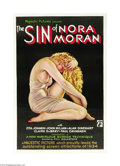 "Movie Posters:Crime, Sin of Nora Moran (Majestic Pictures, 1933). One Sheet (27"" X 41"").Zita Johann, Hungarian born actress, made her screen deb..."