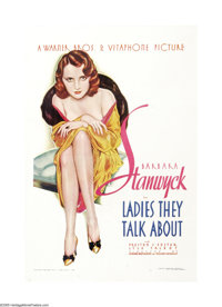 "Ladies They Talk About (Warner Brothers, 1933). One Sheet (27"" X 41"").This little production fit right in with..."