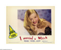 "Movie Posters:Fantasy, I Married a Witch (United Artists, 1942). Lobby Card (11"" X 14""). Veronica Lake plays a 17th century witch who burns at the ..."