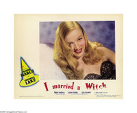 "I Married a Witch (United Artists, 1942). Lobby Card (11"" X 14""). Veronica Lake plays a 17th century witch who..."