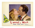 "Movie Posters:Fantasy, I Married a Witch (United Artists, 1942). Lobby Cards (3) (11"" X14""). Many consider this Veronica Lake comedy to be the fo... (3pieces)"
