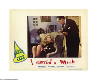 """I Married a Witch (United Artists, 1942). Lobby Cards (3) (11"""" X 14""""). Fredric March replaced Joel McCrea, who..."""