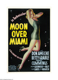 "Movie Posters:Musical, Moon Over Miami (20th Century Fox, 1941). One Sheet (27"" X 41""). Alberto Vargas is often credited with creating the artwork ..."