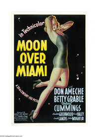 "Moon Over Miami (20th Century Fox, 1941). One Sheet (27"" X 41""). Alberto Vargas is often credited with creatin..."