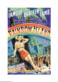 """Movie Posters:Musical, Rainbow Island (Paramount, 1944). One Sheet (27"""" X 41""""). Alluring Dorothy Lamour portrays a doctor's daughter providing much..."""