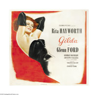 "Gilda (Columbia, 1946). Six Sheet (81"" X 81""). Probably the pinnacle performance of her career as a movie star..."