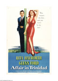 """Movie Posters:Film Noir, Affair in Trinidad (Columbia, 1952). One Sheet (27"""" X 41""""). This film marked the return of bombshell Rita Hayworth, who came..."""