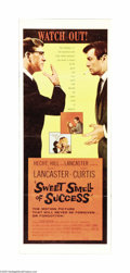 "Movie Posters:Drama, Sweet Smell of Success (United Artists, 1957). Insert (14"" X 36""). Burt Lancaster co-produced this film, which cast him in t..."