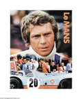 "Movie Posters:Action, Le Mans (National General, 1971). Promotional Poster (17"" X 22"").Steve McQueen is cast as a champion race car driver who's ..."