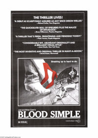 """Blood Simple (Circle Films, 1984). One Sheet (24"""" X 36""""). Joel and Ethan Cohen's debut, ultra low-budget film..."""