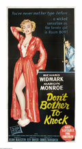 "Movie Posters:Drama, Don't Bother to Knock (20th Century Fox, 1952). Australian ThreeSheet (41"" X 81""). Marilyn Monroe proved to be an acting ta..."