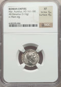 Ancients:Ancient Lots , Ancients: ANCIENT LOTS. Roman Imperial. Ca. AD 161-180. Lot of two(2) AR denarii. NGC XF-Choice XF.... (Total: 2 coins)