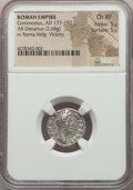 Ancients:Ancient Lots  , Ancients: ANCIENT LOTS. Roman Imperial. Ca. AD 164-192. Lot of two(2) AR denarii. NGC XF-Choice XF.... (Total: 2 coins)