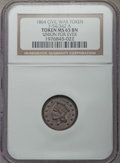 Civil War Tokens, 1864 Union For Ever Civil War Token, F-54/342 A, MS65 Brown NGC..From The Star Mountain Collection....