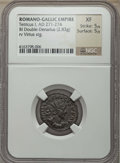 Ancients:Ancient Lots , Ancients: ANCIENT LOTS. Roman Imperial. Ca. AD 260-274. Lot of two(2) BI antoniniani. NGC XF-Choice XF.... (Total: 2 coins)