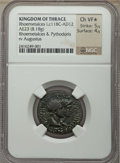 Ancients:Greek, Ancients: THRACIAN KINGDOM. Rhoemetalces I (11 BC-AD 12). AE23(8.18 gm). NGC Choice VF ★ 5/5 - 4/5....