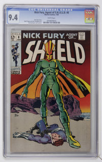 Nick Fury, Agent of SHIELD #8 (Marvel, 1969) CGC NM 9.4 White pages