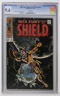 Nick Fury, Agent of SHIELD #6 (Marvel, 1968) CGC NM+ 9.6 White pages