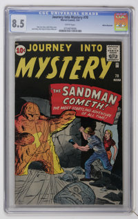 Journey Into Mystery #70 White Mountain pedigree (Marvel, 1961) CGC VF+ 8.5 White pages