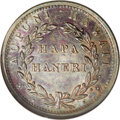 Coins of Hawaii: , 1847 1C Hawaii Cent MS64 Brown NGC. Crosslet 4, 15 berries. M.2CC-2. Deep purple-rose and dappled accents of terra cotta a...