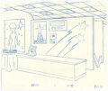 "Animation Art:Production Drawing, ""The Simpsons"" - Animation Drawing Original Art, Group of 4 (Fox,2000-2001).... (Total: 4)"