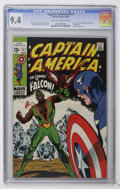 Silver Age (1956-1969):Superhero, Captain America #117 (Marvel, 1969) CGC NM 9.4 Off-white to white pages....