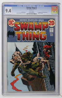 Swamp Thing #2 (DC, 1973) CGC NM 9.4 White pages