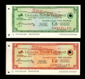 Miscellaneous:Checks, Lloyds Bank Limited Traveller's Cheque Specimens. Here is a pair ofsimply gorgeous Lloyds Bank traveller's checks that are ... (Total:2 notes)