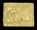 Colonial Notes:Continental Congress Issues, Continental Currency November 29, 1775 $8 Fine. The signaturesremain strong, while some foxing is noticed on the back....