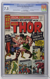 Journey Into Mystery Annual #1 (Marvel, 1965) CGC VF- 7.5 Off-white to white pages