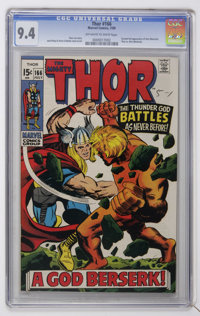 Thor #166 (Marvel, 1969) CGC NM 9.4 Off-white to white pages