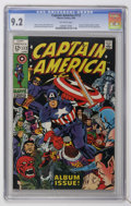 Silver Age (1956-1969):Superhero, Captain America #112 (Marvel, 1969) CGC NM- 9.2 Off-white pages....