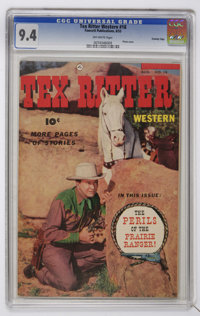 Tex Ritter Western #18 Crowley Copy pedigree (Fawcett, 1953) CGC NM 9.4 Off-white pages
