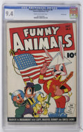 Golden Age (1938-1955):Funny Animal, Fawcett's Funny Animals #8 Crowley Copy pedigree (Fawcett, 1943)CGC NM 9.4 Cream to off-white pages....