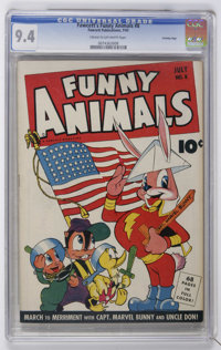 Fawcett's Funny Animals #8 Crowley Copy pedigree (Fawcett, 1943) CGC NM 9.4 Cream to off-white pages