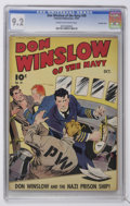 Golden Age (1938-1955):War, Don Winslow of the Navy #20 Crowley Copy pedigree (Fawcett, 1944) CGC NM- 9.2 Cream to off-white pages....