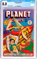 Golden Age (1938-1955):Science Fiction, Planet Comics #58 (Fiction House, 1949) CGC VF 8.0 Off-white towhite pages....