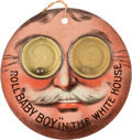 """Political:Small Miscellaneous (1896-present), William Howard Taft: Wonderful Lithographed Tin """"Googly Eyes"""" Dexterity Game...."""