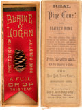 Political:Ribbons & Badges, James G. Blaine: Pine Cone Ribbon Badge in Original Box of Issue....