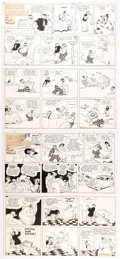 Original Comic Art:Comic Strip Art, Frank Willard and Ferd Johnson Moon Mullins