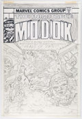 Alan Kupperberg The Inimitable M.O.D.O.K. Faux Cover Original Art (c. 1980s) Comic Art