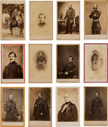 Photography:CDVs, Civil War: Lot of 12 Brady and Anthony Studio Cartes de Visite Featuring Mainly Union Officers....