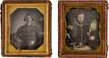 Photography:Daguerreotypes, Mexican War: Pair of Mexican-War Era Military Daguerreotypes.... (Total: 2 Items)